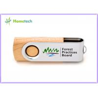 Buy cheap Storage Logo Printing wooden pen drive , small 16gb usb 2.0 flash drive high speed product