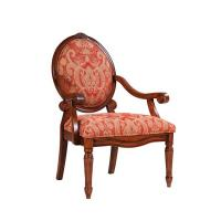 Buy cheap Rustic Teal Upholstered Dining Chairs , Oak Patterned Dining Room Chairs from wholesalers
