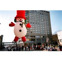 Buy cheap Helium Inflatable Cartoon Characters Heat Sealing Giant Inflatable Snowman from wholesalers