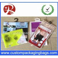 Buy cheap Printed Plastic Garment Hanger Bags Packing Clothes With Bottom Gusset from wholesalers