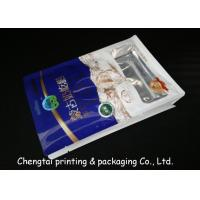Buy cheap Gravure Half Side Aluminum Flat Bottom Plastic Bags Stand Up Pouches With Tear Notch from wholesalers