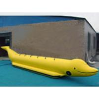 Buy cheap Custom Single Inflatable Water Games Shark Boat For 6 People In Yellow Color from wholesalers