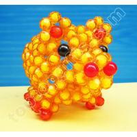 Buy cheap handicraft acrylic beaded pig plastic beads animal decoration product