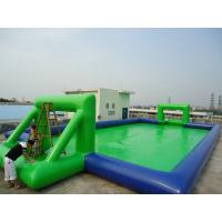 Buy cheap PVC Amusement Park Inflatable football field for outdoor water park games from wholesalers