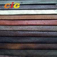 Buy cheap Polyester Colorful Emboss Suede Fabric for Sofa and Furniture Abrasion - Resistant product