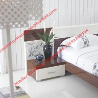 Buy cheap Dark oliver and white glossy painting Apartment bedroom furniture product