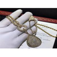 Buy cheap High End 18K Gold Diamond Necklace , Custom Boucheron Snake Necklace product