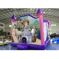 Buy cheap Pink Castle Princess Inflatable Bouncer Slide Combo With 18 OZ Vinyl PVC Material from wholesalers