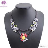 Buy cheap Fashion Lady elegant color resin flower necklace from wholesalers