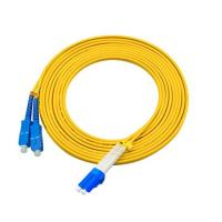 Buy cheap 3 Meters LC To SC Single Mode Fiber Jumpers Yellow Jacket Easy Installation from wholesalers