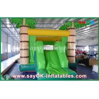 Buy cheap Customize Coconut Tree Green Inflatable Bouncer House For Playing from wholesalers