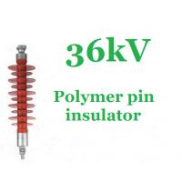 Buy cheap High Voltage Pin Post Insulator Silicone Rubber 36 Kv Impact Resistant from Wholesalers