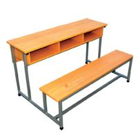 Buy cheap cheap school furniture D63-09 double person student desk and chair from wholesalers