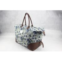 Buy cheap Canvas & Leather Ladies Canvas Travel Bag Recyclable OEM / ODM Available product