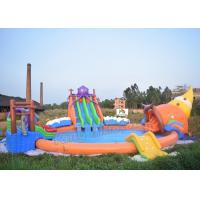 Buy cheap Outdoor PVC Tarpaulin Inflatable Water Park Games On Land With 3 Slides from Wholesalers