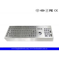 Buy cheap Desktop Industrial Metal Keyboard with Full Keys and Trackball used for Machines from wholesalers