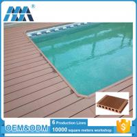 Hollow design waterproof technique wpc composite swimming for Swimming pool flooring materials