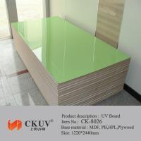 Buy cheap Green / Red / Blue Faced Laminated Carving UV MDF Board For Sliding Doors / Cabinet from wholesalers
