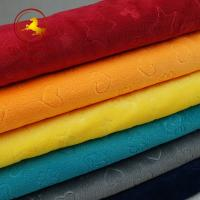 Buy cheap Fast delivery minky fabric korean wholesale for baby blanket from wholesalers