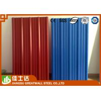 Buy cheap Red Blue Color Coated Roofing Sheets Crest Tile 0.3-1.2mmX600-1250mm from wholesalers