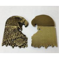 Buy cheap Great value metal eagle emblem plaque, metal eagle symbol plate with 3M adhesive backing, from wholesalers
