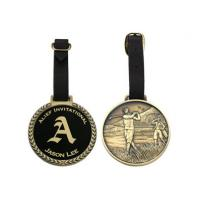 Buy cheap Promotional Gift Metal Golf Bag Tag With Enamel Colored Corporate Or Sport Logo from wholesalers