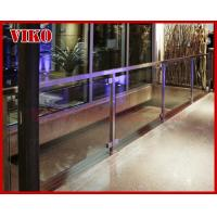 Buy cheap Glass Spigot For Glass Railing VH102SB GlassSpigot Tempered glass Railing 304 stainless steel UChannel Cap Handrail Clea from wholesalers