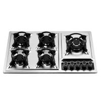 Kitchen Prushed Stainless Steel Oven And Hob 5 Burner 86cm 860*510mm