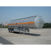 Buy cheap 46000L Aluminum Alloy 3 Axles Diesel Oil Tank Trailer , Light Gasoline Trailer from wholesalers
