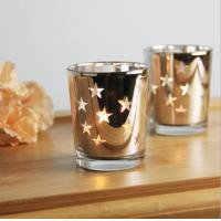 Buy cheap Star candle holder mercury glass candle holder/jar/cup tealight candle holder for wedding gift from wholesalers