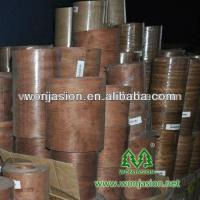 Buy cheap 0.3mm Thickness Natural Burma Teak wood veneer back with fleece 300 meters long from wholesalers