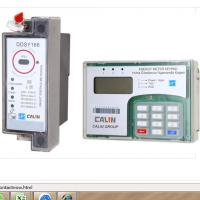 Buy cheap 35mm Din Rail Keypad Prepaid Electric Meter With RF Communication Remotely product