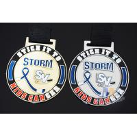 Buy cheap Hockey Baseball Award Medals 10k Metal With Soft Enamel Sublimated Ribbon from wholesalers