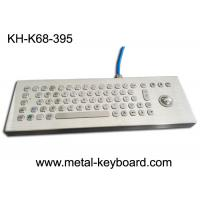 Buy cheap Desktop Industrial Computer Keyboard Stainless Steel Water Proof With Laser Trackball from wholesalers