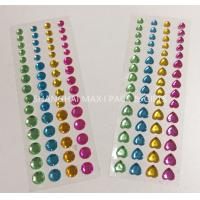 Buy cheap Customed Gold Red Heart Gem Stickers For Face Body Supply Diamond Acrylic Material from wholesalers