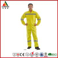 Buy cheap Custom Fireproof Cotton Antistatic Fire Resistant Coveralls / FRC Clothing with OEM from wholesalers
