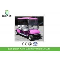 Buy cheap Green Energy Pink Color 4 Seater Electric Golf Carts 48V Curtis Controller Electric Transportation Car from wholesalers