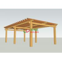 Buy cheap Prefab Wood Plastic Composite Pergola  No Painting Antisepsis 8.3m X 5m For Garden from wholesalers