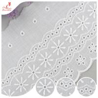 Buy cheap Durable Embroidered Ribbon Trim For Wedding Curtain / White Tulle Trim product