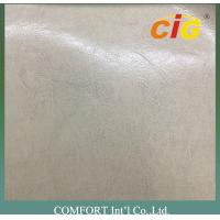Buy cheap Classical Semi PU Synthetic Leather With Shining Surface 65% PVC + 35% Polyester from wholesalers