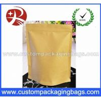 Buy cheap Heat Sealing Ziplock Kraft Paper Coffee Packaging Bags With Valve from wholesalers