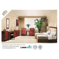 China Mahogany Finished Double - Bed Bedroom Furniture Set Modern Corner Table With Sofa on sale