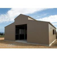 Buy cheap Agricultural Greenhouse Metal Barn Construction / Prefab Pole Barn Kits Custom Size from wholesalers