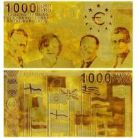 Buy cheap 1000 Euro Plated 24K Gold Banknote from wholesalers