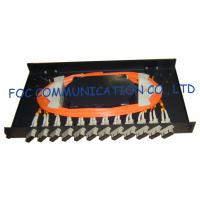 Buy cheap Fiber Optic Patch Panel 12Port With SC Multimode Duplex Adapters and Pigtails from wholesalers