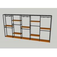 Buy cheap Metal Tube Wooden Shelf Garment Display Stands For Chain Stores Easy Assembly from wholesalers