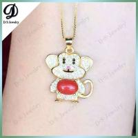 Buy cheap 925 Sterling Silver Natural Red Coral Monkey Gemstone Pendant from wholesalers
