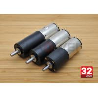 Buy cheap 12V 32mm OD Low Speed DC Motor Gearbox for Solar Panels , 52rpm Load Speed product