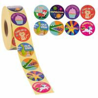 Buy cheap Spanish Encouragement Round Paper Tags Kids Motivation Use With Animals Pattern from wholesalers