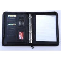 Quality zippered ring binder business file folder for sale